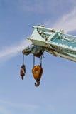 Γάντζος κινητών γερανών κατασκευής Στοκ φωτογραφία με δικαίωμα ελεύθερης χρήσης