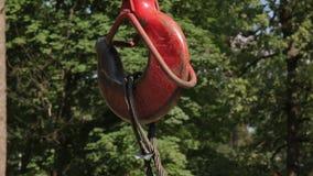Γάντζος του γερανού κατασκευής απόθεμα βίντεο