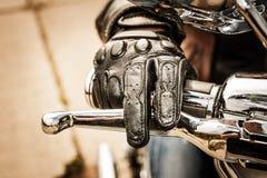 Γάντια αγώνα μοτοσικλετών Στοκ Εικόνες