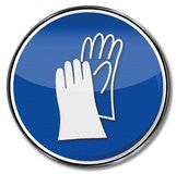 Γάντια ασφάλειας για τον εργαζόμενο ελεύθερη απεικόνιση δικαιώματος