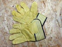 Γάντια ασφάλειας δέρματος Στοκ Εικόνα