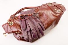 γάντια γυαλιών τσαντών Στοκ Εικόνα
