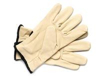 Γάντια εργασίας δέρματος Στοκ εικόνα με δικαίωμα ελεύθερης χρήσης