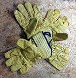 Γάντια εργασίας δέρματος Στοκ φωτογραφίες με δικαίωμα ελεύθερης χρήσης