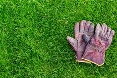 Γάντια εργασίας στον κήπο Στοκ Φωτογραφία