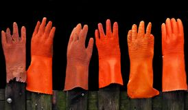 Γάντια εργασίας Στοκ εικόνες με δικαίωμα ελεύθερης χρήσης