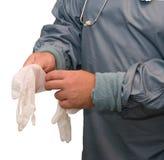 γάντια ιατρικά Στοκ φωτογραφία με δικαίωμα ελεύθερης χρήσης