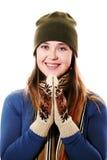 γάντια κοριτσιών Στοκ Φωτογραφίες