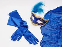 Γάντια μασκών και μεταξιού Στοκ Φωτογραφία