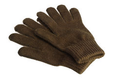 Γάντια μαλλιού που απομονώνονται Στοκ Εικόνες