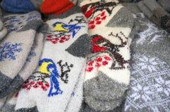 Γάντια παιδιών ` s για τα Χριστούγεννα Στοκ εικόνες με δικαίωμα ελεύθερης χρήσης