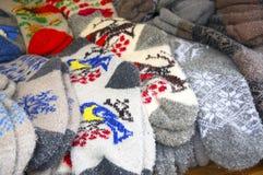 Γάντια παιδιών ` s για τα Χριστούγεννα Στοκ Φωτογραφία