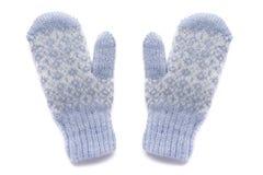 Γάντια, που απομονώνονται μπλε Στοκ Εικόνες