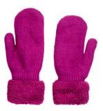 Γάντια που απομονώνονται στην άσπρη ανασκόπηση πλεκτά γάντια γάντια Στοκ φωτογραφία με δικαίωμα ελεύθερης χρήσης