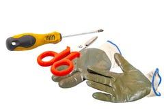 Γάντια που απομονώνονται στο άσπρο υπόβαθρο στοκ εικόνες με δικαίωμα ελεύθερης χρήσης