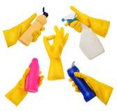 γάντια που τίθενται Στοκ Εικόνες