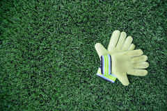 Γάντια τερματοφυλακάων Στοκ φωτογραφία με δικαίωμα ελεύθερης χρήσης