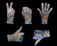 Γάντια χρημάτων Στοκ φωτογραφίες με δικαίωμα ελεύθερης χρήσης