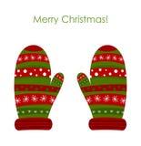 Γάντια Χριστουγέννων διανυσματική απεικόνιση