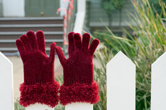 Γάντια Santa Στοκ φωτογραφίες με δικαίωμα ελεύθερης χρήσης