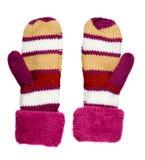 Γάντι που απομονώνεται στο άσπρο υπόβαθρο πλεκτά γάντια Γάντια Στοκ φωτογραφία με δικαίωμα ελεύθερης χρήσης