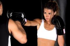 γάντι πυγμαχίας εστίασης workout Στοκ Εικόνες