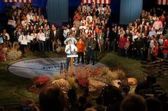 Γάντι πυγμαχίας στην εξέδρα, συνάθροιση Romney Στοκ Φωτογραφίες