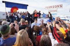 Γάντι πυγμαχίας Romney συνάθροισης του Paul Νταίηβις Ryan Στοκ εικόνα με δικαίωμα ελεύθερης χρήσης