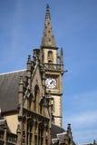 Γάνδη Βέλγιο η περιοχή graslei του παλαιού κτηρίου Στοκ Φωτογραφίες