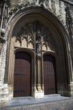 Γάνδη, Βέλγιο η πύλη σε ένα ιστορικό κτήριο Στοκ Εικόνα