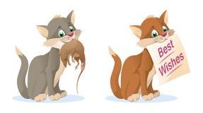 Γάτα Αρουραίος Καλύτερες ευχές Στοκ εικόνες με δικαίωμα ελεύθερης χρήσης