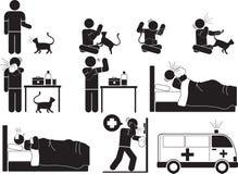 Γάτα αλλεργίας Στοκ φωτογραφία με δικαίωμα ελεύθερης χρήσης