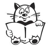 γάτα βιβλίων Στοκ φωτογραφία με δικαίωμα ελεύθερης χρήσης