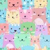 Γάτα, γατάκι - χαριτωμένο, αστείο σχέδιο ελεύθερη απεικόνιση δικαιώματος