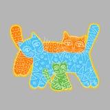 Γάτα γιων πατέρων οικογενειακών μητέρων Στοκ εικόνα με δικαίωμα ελεύθερης χρήσης