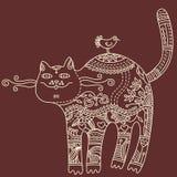 γάτα διακοσμητική Απεικόνιση αποθεμάτων