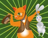 γάτα η απόδοση μάγων του Στοκ Εικόνα