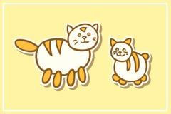 Γάτα και γατάκι μητέρων Ελεύθερη απεικόνιση δικαιώματος