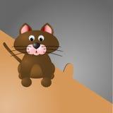Γάτα και η τρύπα ποντικιών Στοκ εικόνες με δικαίωμα ελεύθερης χρήσης