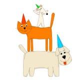 Γάτα και ποντίκι σκυλιών Στοκ φωτογραφίες με δικαίωμα ελεύθερης χρήσης