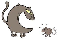 Γάτα και ποντίκι Στοκ Εικόνες