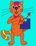 Γάτα και πρόγραμμα Στοκ εικόνα με δικαίωμα ελεύθερης χρήσης