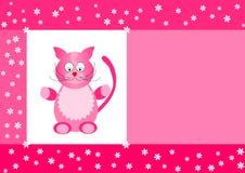 γάτα καρτών Στοκ Εικόνα