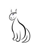 Γάτα καλλιγραφίας Στοκ εικόνες με δικαίωμα ελεύθερης χρήσης