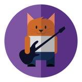 Γάτα κιθάρων Στοκ εικόνες με δικαίωμα ελεύθερης χρήσης