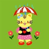 γάτα κινούμενων σχεδίων Στοκ εικόνες με δικαίωμα ελεύθερης χρήσης