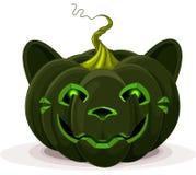 Γάτα κολοκύθας αποκριών απεικόνιση αποθεμάτων