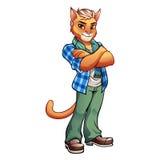 Γάτα 01 μασκότ Στοκ φωτογραφία με δικαίωμα ελεύθερης χρήσης
