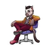 Γάτα μασκότ Στοκ Εικόνα