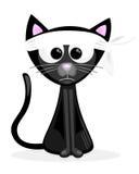 Γάτα με τον πονοκέφαλο Στοκ Εικόνες